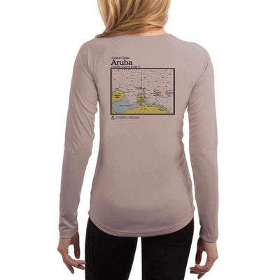 Coastal Classics Aruba Womens Upf 5+ Uv/sun Protection Performance T-Shirt Athletic Grey / X-Small Shirt