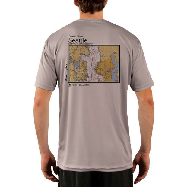 Coastal Classics Seattle Mens Upf 5+ Uv/sun Protection Performance T-Shirt Athletic Grey / X-Small Shirt