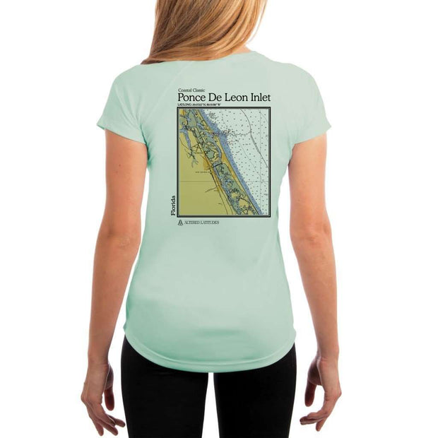 Coastal Classics Ponce De Leon Inlet Womens Upf 5+ Uv/sun Protection Performance T-Shirt Seagrass / X-Small Shirt