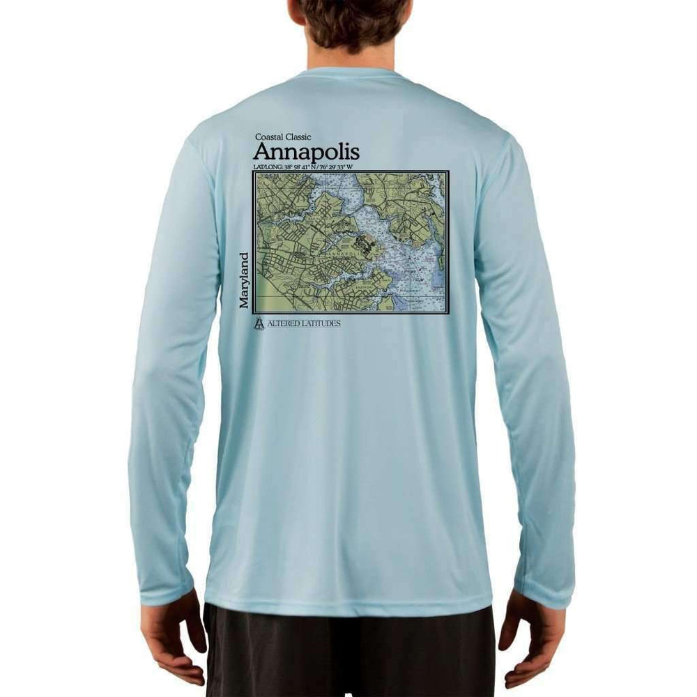 Coastal Classics Annapolis Mens Upf 5+ Uv/sun Protection Performance T-Shirt Arctic Blue / X-Small Shirt