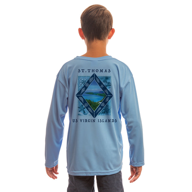 Coastal Quads St.Thomas Youth UPF 50+ UV/Sun Protection Long Sleeve T-Shirt
