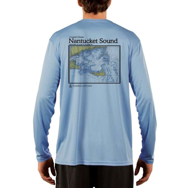 Coastal Classics Nantucket Sound Mens Upf 5+ Uv/sun Protection Performance T-Shirt Columbia Blue / X-Small Shirt