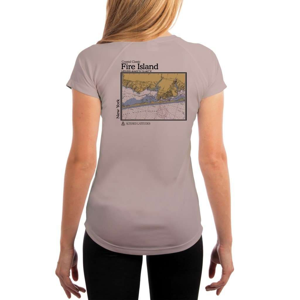 Coastal Classics Fire Island Womens Upf 50+ Uv/sun Protection Performance T-Shirt Athletic Grey / X-Small Shirt