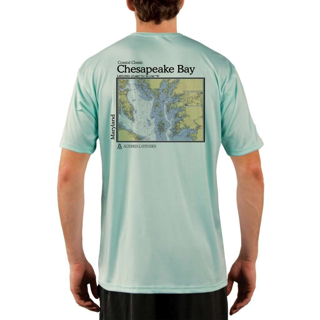 Coastal Classics Chesapeake Bay Mens Upf 50+ Uv/sun Protection Performance T-Shirt Seagrass / X-Small Shirt