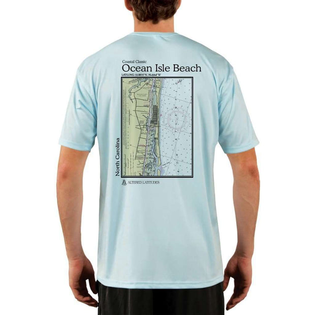Coastal Classics Ocean Isle Beach Mens Upf 5+ Uv/sun Protection Performance T-Shirt Arctic Blue / X-Small Shirt