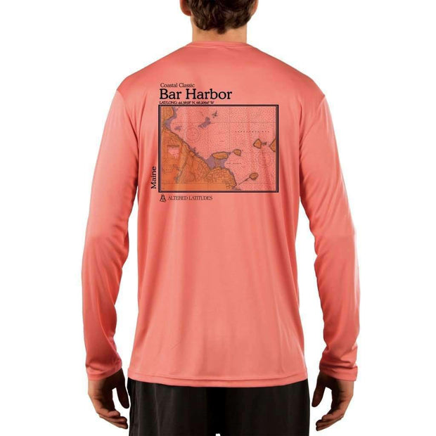 Coastal Classics Bar Harbor Mens Upf 5+ Uv/sun Protection Performance T-Shirt Salmon / X-Small Shirt