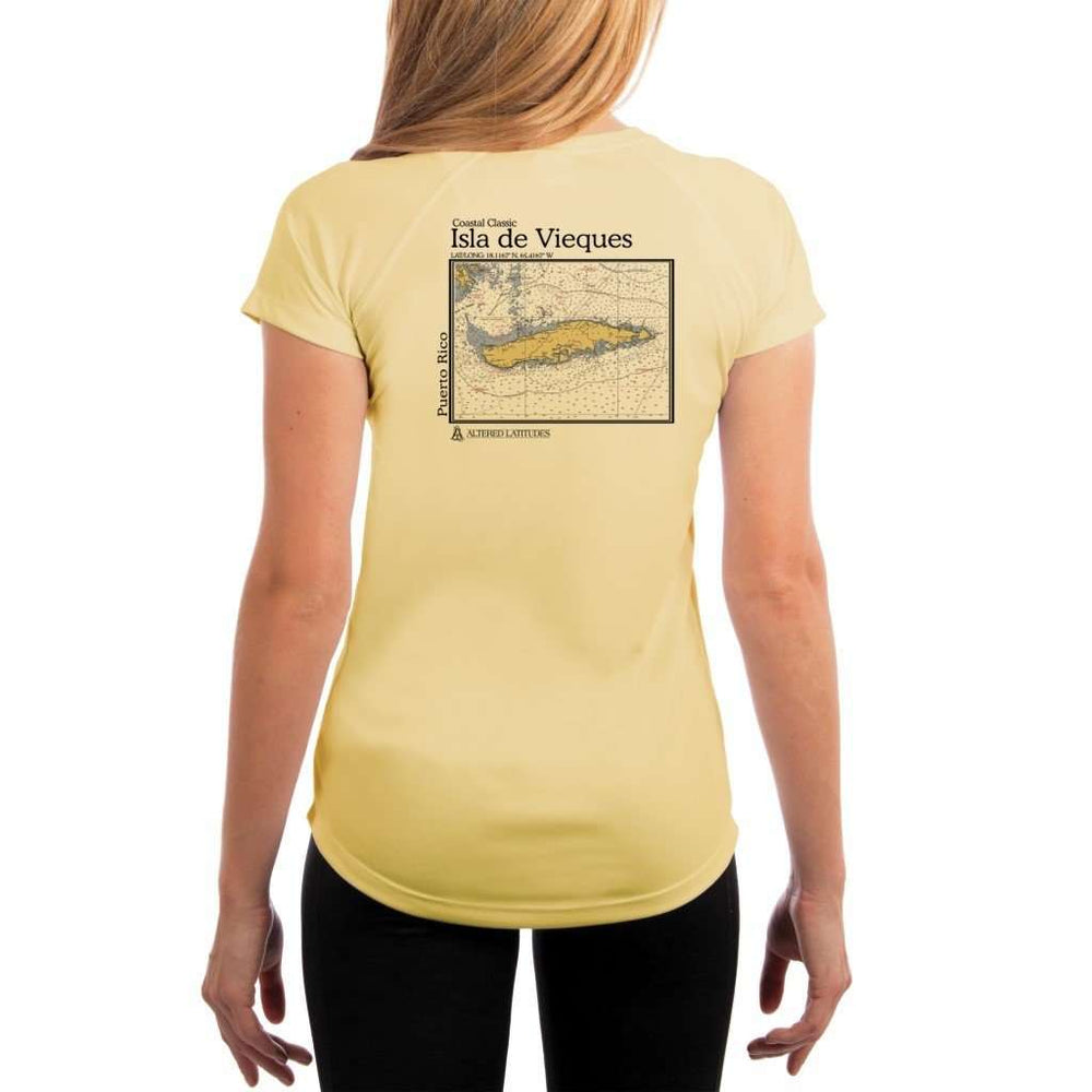 Coastal Classics Isla De Vieques Womens Upf 5+ Uv/sun Protection Performance T-Shirt Pale Yellow / X-Small Shirt