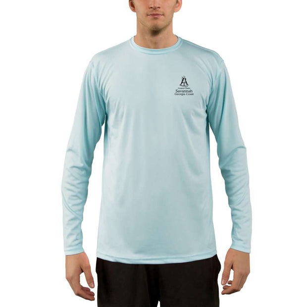 Coastal Classics Savannah Georgia Coast Mens Upf 5+ Uv/sun Protection Performance T-Shirt Shirt