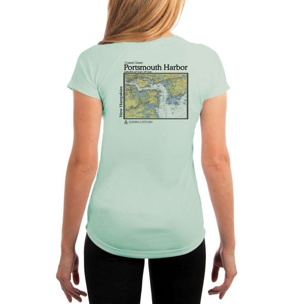 Coastal Classics Portsmouth Harbor Womens Upf 5+ Uv/sun Protection Performance T-Shirt Seagrass / X-Small Shirt
