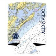 Altered Latitudes Ocean City, NJ Chart Standard Can Cooler (4-Pack)