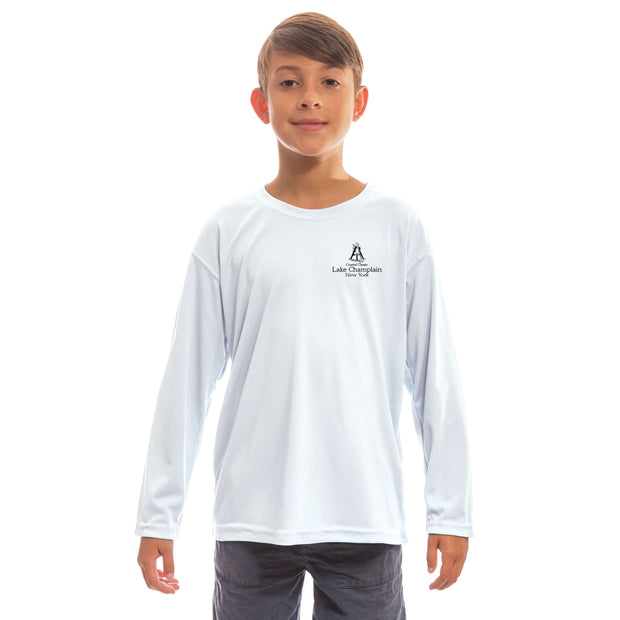 Coastal Classics Lake Champlain Youth UPF 50+ UV/Sun Protection Long Sleeve T-Shirt - Altered Latitudes