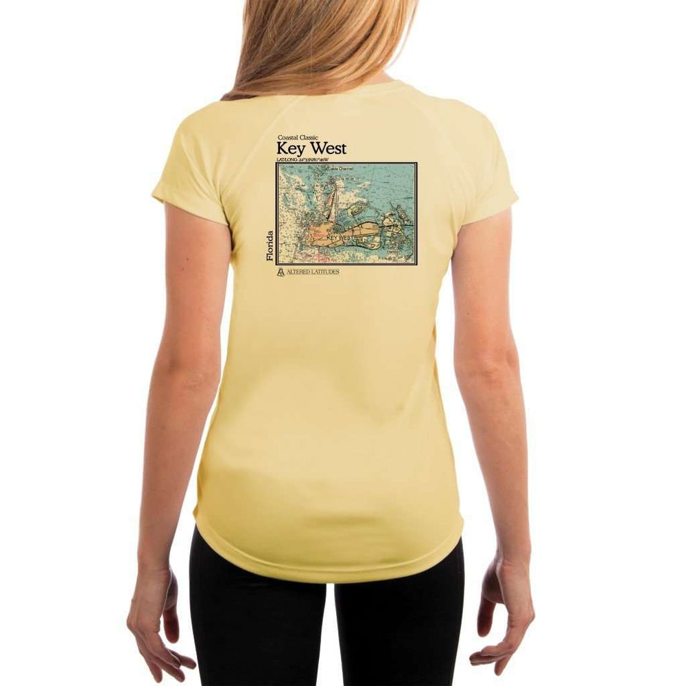Coastal Classics Key West Womens Upf 5+ Uv/sun Protection Performance T-Shirt Pale Yellow / X-Small Shirt