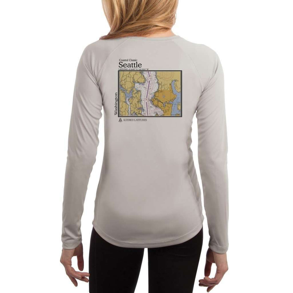 Coastal Classics Seattle Womens Upf 5+ Uv/sun Protection Performance T-Shirt Pearl Grey / X-Small Shirt