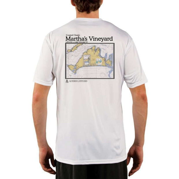 Coastal Classics Marthas Vineyard Mens Upf 5+ Uv/sun Protection Performance T-Shirt White / X-Small Shirt