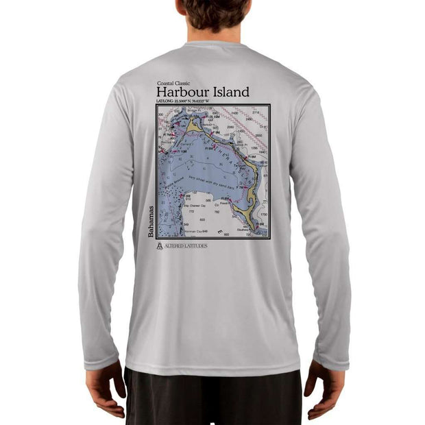Coastal Classics Harbour Island Mens Upf 5+ Uv/sun Protection Performance T-Shirt Pearl Grey / X-Small Shirt