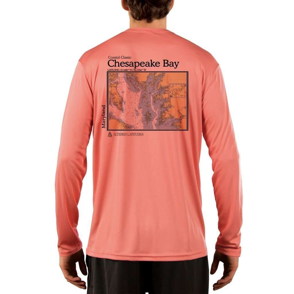Coastal Classics Chesapeake Bay Men's UPF 50+ UV/Sun Protection Performance T-shirt