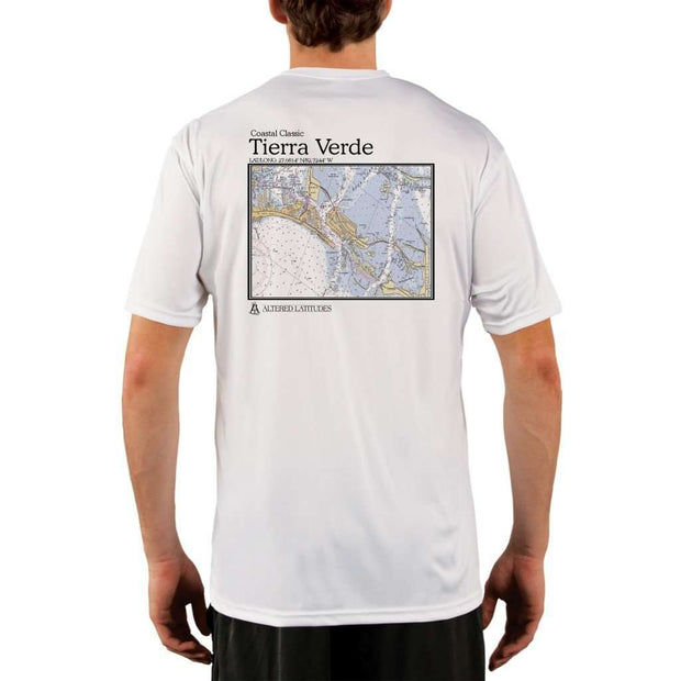 Coastal Classics Tierra Verde Mens Upf 5+ Uv/sun Protection Performance T-Shirt White / X-Small Shirt