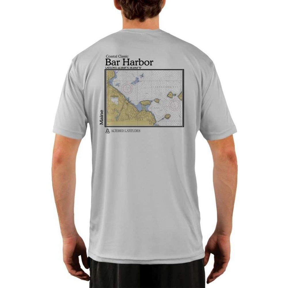 Coastal Classics Bar Harbor Mens Upf 5+ Uv/sun Protection Performance T-Shirt Pearl Grey / X-Small Shirt