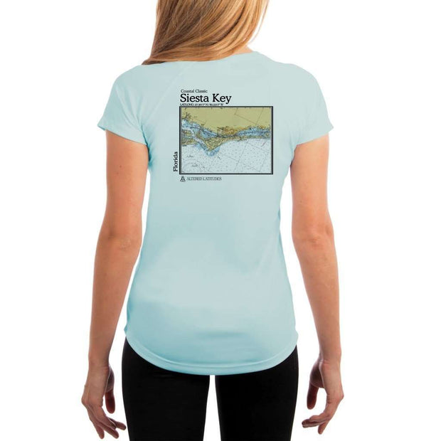 Coastal Classics Siesta Key Womens Upf 5+ Uv/sun Protection Performance T-Shirt Arctic Blue / X-Small Shirt