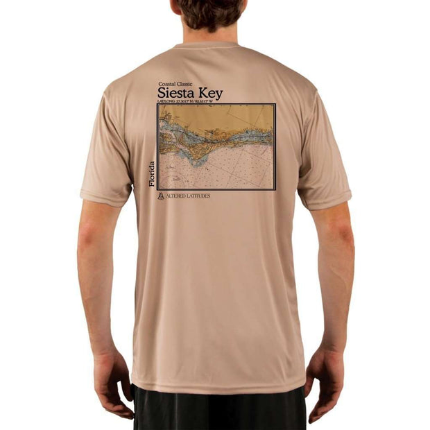 Coastal Classics Siesta Key Mens Upf 5+ Uv/sun Protection Performance T-Shirt Tan / X-Small Shirt