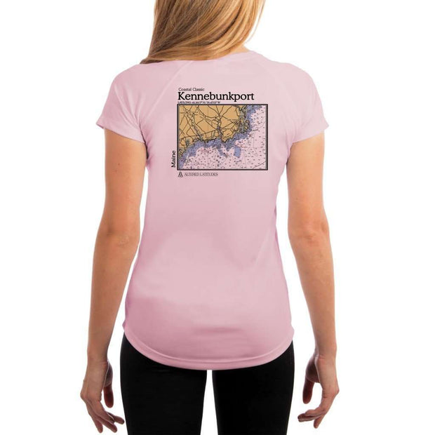 Coastal Classics Kennebunkport Womens Upf 5+ Uv/sun Protection Performance T-Shirt Pink Blossom / X-Small Shirt