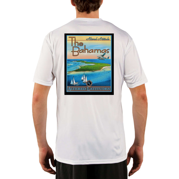 Vintage Destination The Bahamas Men's UPF 5+ UV Sun Protection Short Sleeve T-shirt - Altered Latitudes