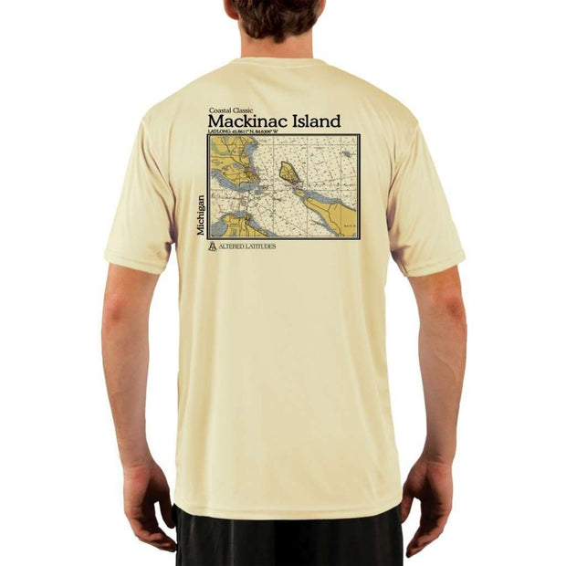 Coastal Classics Mackinac Island Mens Upf 5+ Uv/sun Protection Performance T-Shirt Pale Yellow / X-Small Shirt