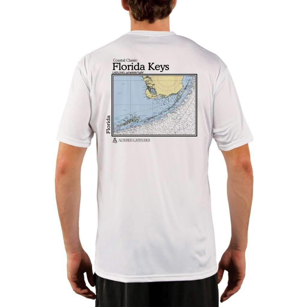 Coastal Classics Florida Keys Mens Upf 5+ Uv/sun Protection Performance T-Shirt White / X-Small Shirt