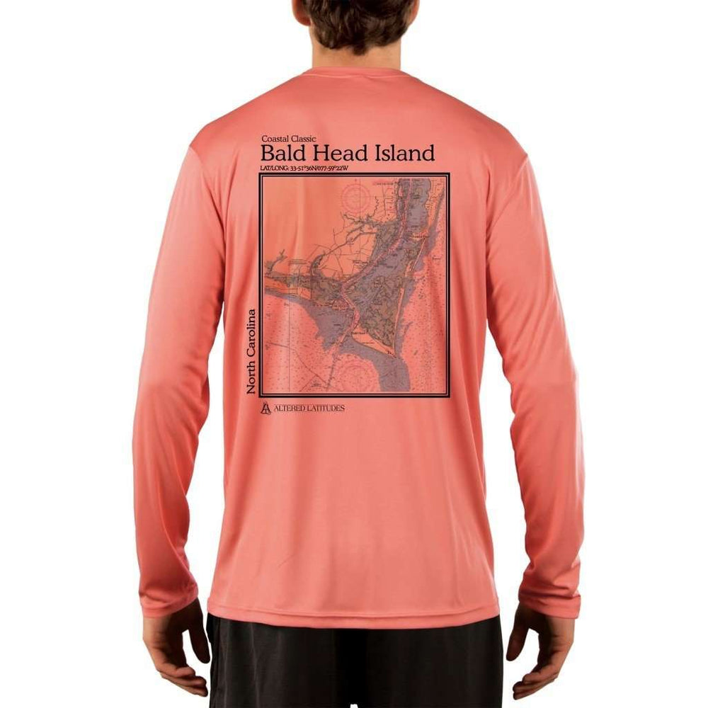 Coastal Classics Bald Head Island Mens Upf 5+ Uv/sun Protection Performance T-Shirt Salmon / X-Small Shirt