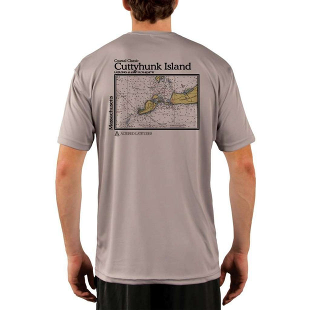 Coastal Classics Cuttyhunk Island Mens Upf 5+ Uv/sun Protection Performance T-Shirt Athletic Grey / X-Small Shirt