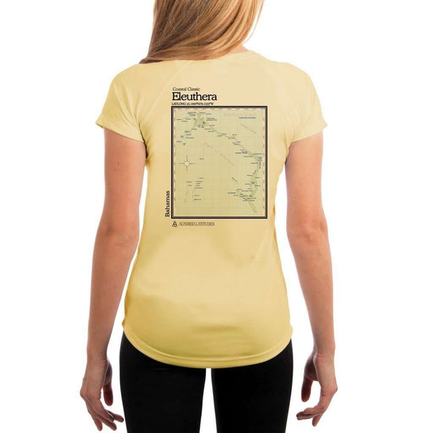 Coastal Classics Eleuthera Womens Upf 5+ Uv/sun Protection Performance T-Shirt Pale Yellow / X-Small Shirt