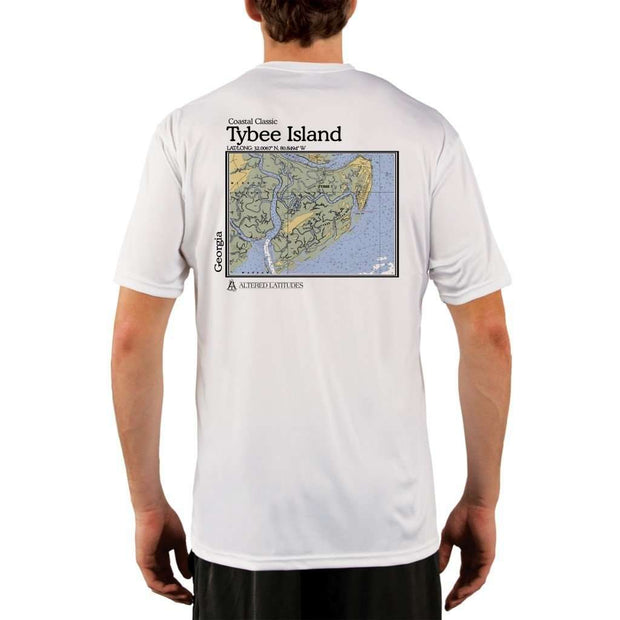 Coastal Classics Tybee Island Mens Upf 5+ Uv/sun Protection Performance T-Shirt White / X-Small Shirt
