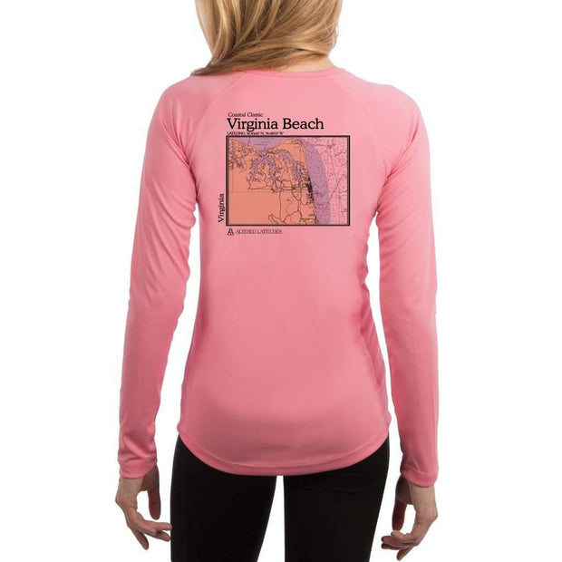 Coastal Classics Virginia Beach Womens Upf 5+ Uv/sun Protection Performance T-Shirt Pretty Pink / X-Small Shirt