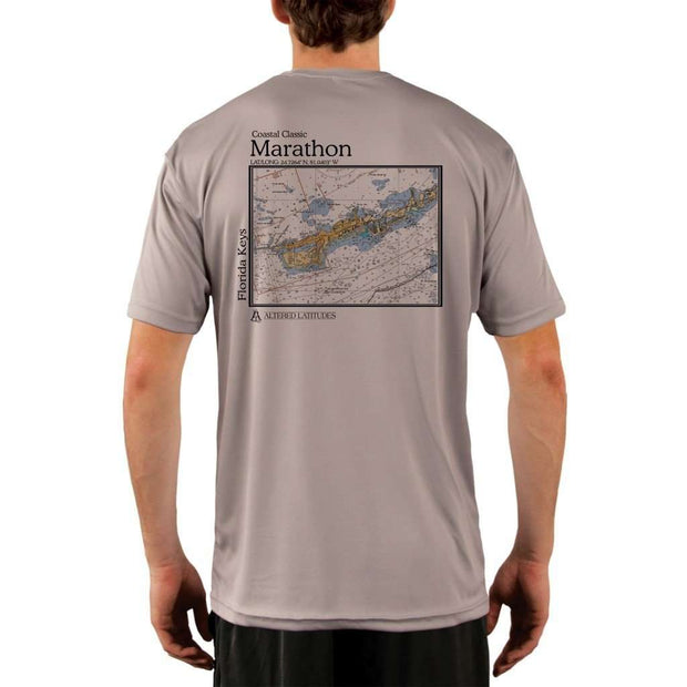Coastal Classics Marathon Mens Upf 5+ Uv/sun Protection Performance T-Shirt Athletic Grey / X-Small Shirt