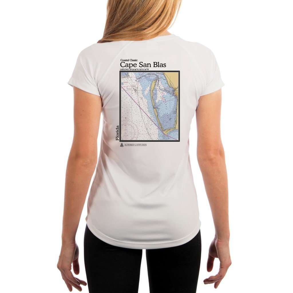 Coastal Classics Cape San Blas Womens Upf 50+ Uv/sun Protection Performance T-Shirt White / X-Small Shirt