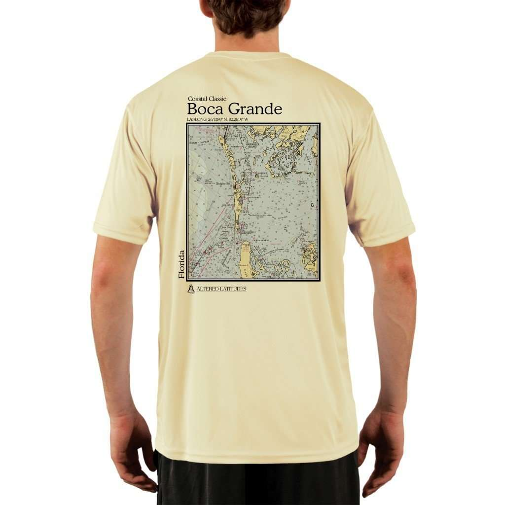 Coastal Classics Boca Grande Mens Upf 50+ Uv/sun Protection Performance T-Shirt Pale Yellow / X-Small Shirt