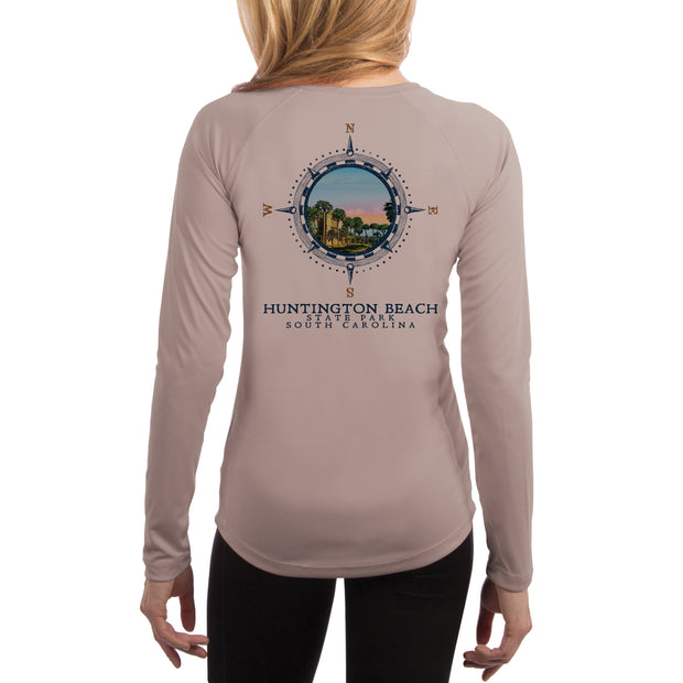 Compass Vintage Huntington Beach  Women's UPF 50+ Long Sleeve T-shirt