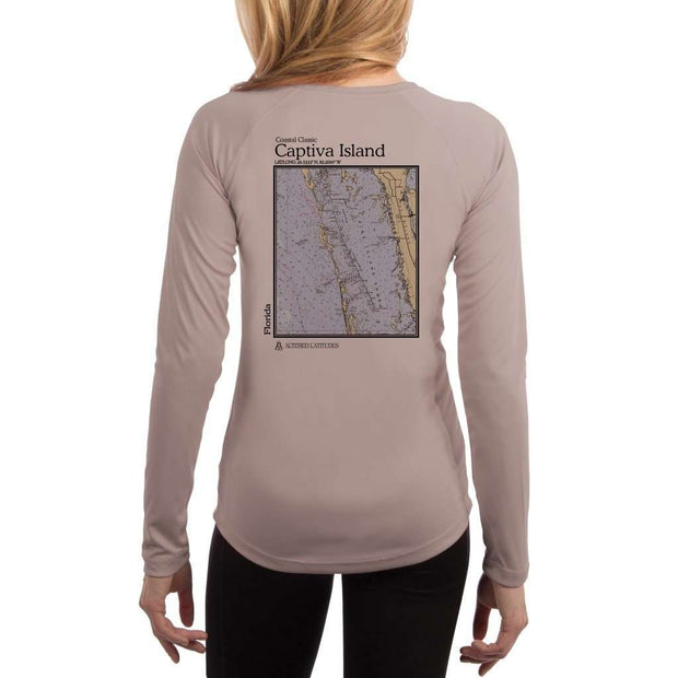 Coastal Classics Captiva Island Womens Upf 5+ Uv/sun Protection Performance T-Shirt Athletic Grey / X-Small Shirt