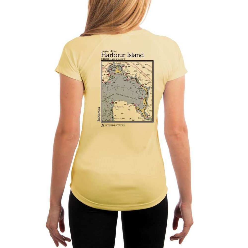 Coastal Classics Harbour Island Womens Upf 5+ Uv/sun Protection Performance T-Shirt Pale Yellow / X-Small Shirt