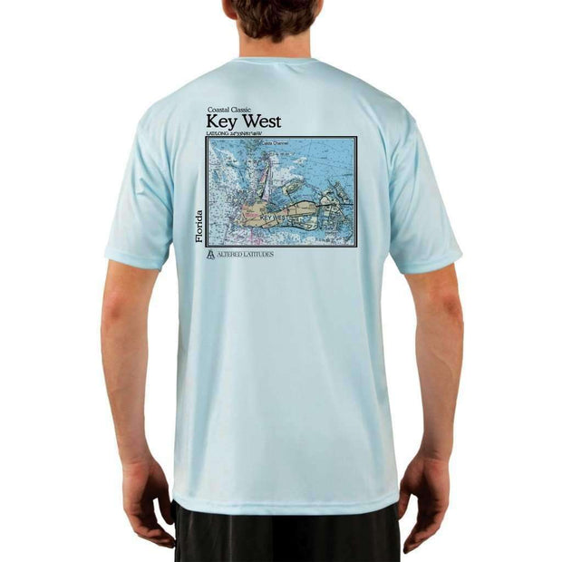 Coastal Classics Key West Mens Upf 5+ Uv/sun Protection Performance T-Shirt Arctic Blue / X-Small Shirt