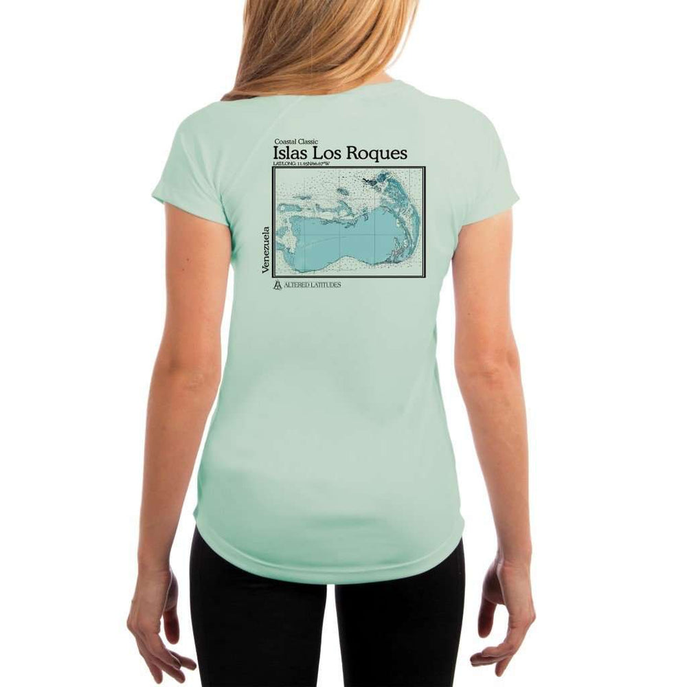 Coastal Classics Islas Los Roques Womens Upf 5+ Uv/sun Protection Performance T-Shirt Seagrass / X-Small Shirt