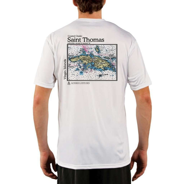 Coastal Classics Saint Thomas Mens Upf 5+ Uv/sun Protection Performance T-Shirt White / X-Small Shirt