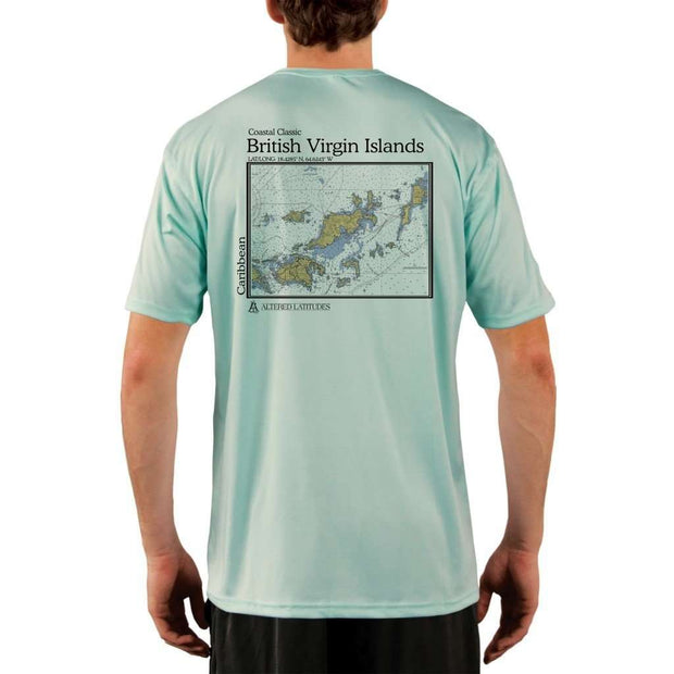 Coastal Classics British Virgin Islands Mens Upf 5+ Uv/sun Protection Performance T-Shirt Seagrass / X-Small Shirt