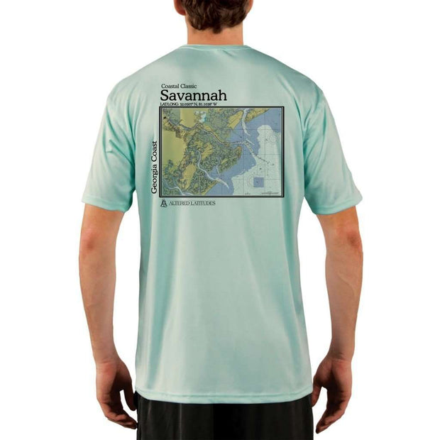 Coastal Classics Savannah Georgia Coast Mens Upf 5+ Uv/sun Protection Performance T-Shirt Seagrass / X-Small Shirt