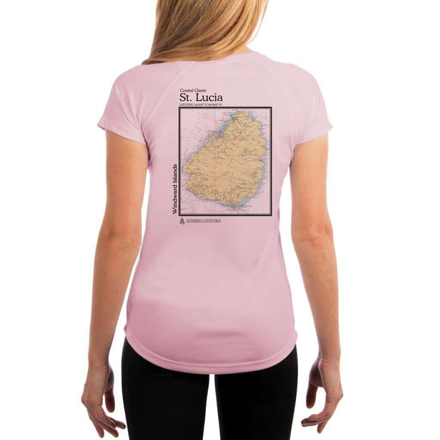 Coastal Classics St. Lucia Womens Upf 5+ Uv/sun Protection Performance T-Shirt Pink Blossom / X-Small Shirt