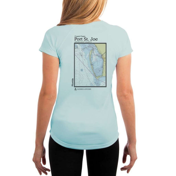 Coastal Classics Port St. Joe Womens Upf 5+ Uv/sun Protection Performance T-Shirt Arctic Blue / X-Small Shirt