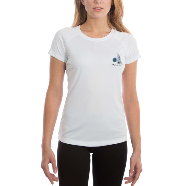 Island Lifestyle Wanderlust Women's UPF 5+ UV Sun Protection Short Sleeve T-shirt - Altered Latitudes