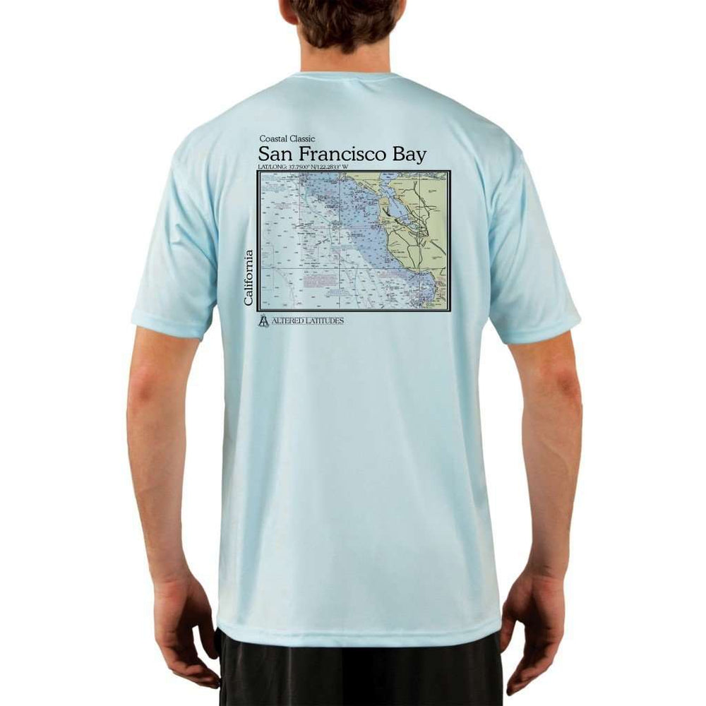 Coastal Classics San Francisco Bay Mens Upf 5+ Uv/sun Protection Performance T-Shirt Arctic Blue / X-Small Shirt