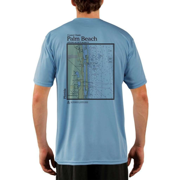 Coastal Classics Palm Beach Mens Upf 5+ Uv/sun Protection Performance T-Shirt Columbia Blue / X-Small Shirt