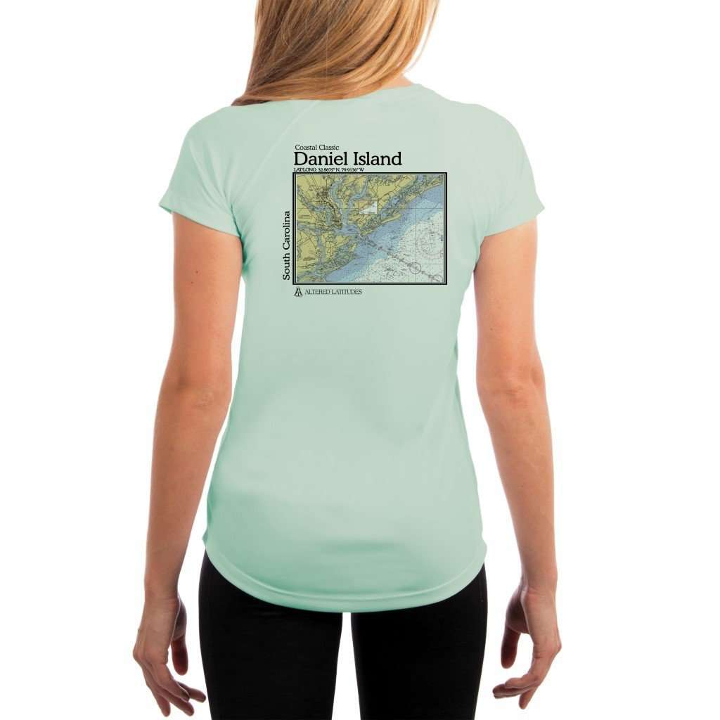 Coastal Classics Daniel Island Womens Upf 5+ Uv/sun Protection Performance T-Shirt Seagrass / X-Small Shirt